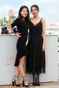 Kim Tae-Ri and Kim Min-Hee at the annual Cannes Film Festival Boho Fashion, Fashion Looks, Fashion Outfits, Modern Fashion, Korean Actresses, Actors & Actresses, Beautiful Celebrities, Beautiful People, Beautiful Women