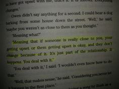 My favourite lines by Sara dessen's novel called Just Listen. Highly recommended