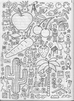 Ilustrador Alexiev Gandman: Paso a paso para colorear una hoja de mi cuaderno