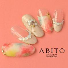 ドリームフラワー nd68717 | ABITO -nail-(アビトー)のネイルデザイン・ネイルアート・ネイルカタログを探すなら楽天ビューティ。夢のなかへ・・・