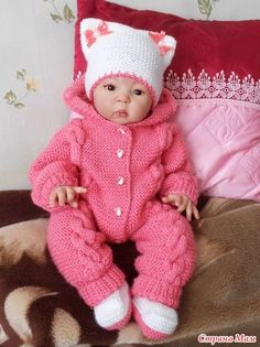 Baby Born Clothes, Boy Doll Clothes, Knitted Baby Clothes, Doll Clothes Patterns, Baby Girl Patterns, Baby Knitting Patterns, Preemie Crochet, Baby Boy Blankets, Baby Cardigan