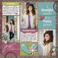 My layout with Memories and Moments Thanksgiving Add On by SuzyQ Scraps.