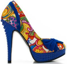 I love this crazy cobalt and colors shoe!