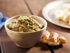 Smoky Eggplant Dip from Memorial Day BBQ: Our Best Recipes for Summer's First Big Cookout Diabetic Recipes, Low Carb Recipes, Diet Recipes, Healthy Recipes, Eggplant Dip Recipes, Georgian Cuisine, Caviar D'aubergine, Buttermilk Chicken, Vegetarian