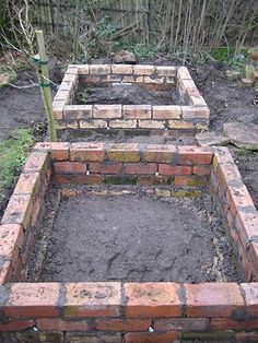 garden care vegetable 9 New amp; Different Uses For Reclaimed Bricks That You Havent Thought Of old vintage brick garden beds