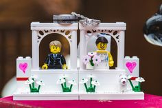 Leah & Patrick's geeky Heritage Park wedding is full of amazing nerdy decor inspiration! By Calgary wedding photographer Anna M. Calgary Wedding Venues, Outdoor Wedding Venues, Lego Wedding Cakes, Wedding Cake Toppers, Nontraditional Wedding, Park Weddings, Wedding Portraits, Photographers, Anna