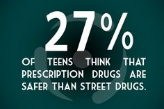 Many parents also don't realize how dangerous prescription drug abuse can be. One out of six parents thought pharmaceutical drugs were safer than street drugs.