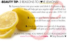 For more beauty tips just click the picture !   Lemon uses and tips.