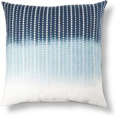 Embroidered Dots Decorative Pillow Blue Threshold ($25) ❤ liked on Polyvore