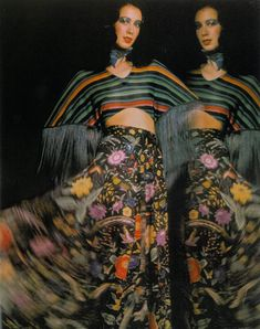 Moyra Swan wearing Missoni, photo by Barry Lategan Vogue UK 1972