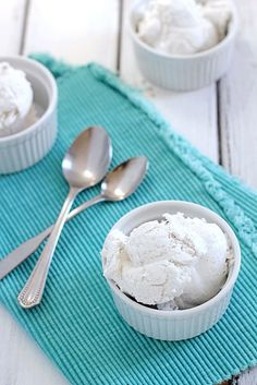 You only need coconut milk and vanilla to make this ice cream.