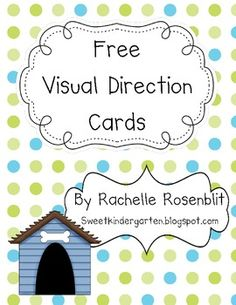 These cards, which can be made to stick to your board with putty or magnet dots, will help your children remember multi-step directions. They include: Color Write Cut Glue Draw Trace and Write your name. Kindergarten Classroom Organization, Classroom Procedures, Classroom Freebies, Teaching Kindergarten, School Organization, Classroom Themes, Classroom Activities, Classroom Management, Kindergarten Freebies