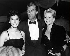 fuckyeahavagardner: Ava Gardner, Lana Turner, and Fernando Lamas arriving at a party thrown by Marion Davies, 1952