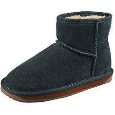 Women's Classic Leather Half Snow Boots Green 7 -- For more information, visit image link. (This is an affiliate link and I receive a commission for the sales) #Outdoor