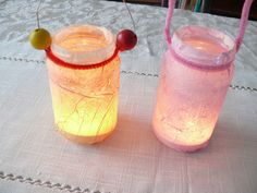 Waldorf Craft : Tissue Paper and Watercolour Lanterns | Here We Are Together