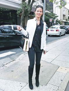 Upost Street Style - Look Preto e Branco na Oscar Freire