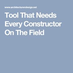 Tool That Needs Every Constructor On The Field