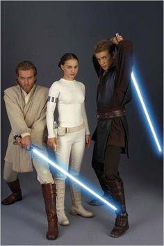 Obi-Wan, Padame, and Anakin