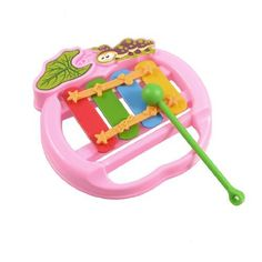 "Como Mallet Knocked Pink Plastic Xylophone Musical Instrument Toy for Kids Children by Como. $5.13. Product Name : Xylophone Toy;Fit for : Children. Bar Number : 4;Total Size : 10.5 x 10.3 x 2.1cm/ 4.2"" x 4"" x 0.8"" (L*W*H). Mallet Size : 9 x 1.5cm/ 3.5"" x 0.53""(L*Max.D);Weight : 39g. Package Content : 1 x Xylophone Toy,1 x Mallet. Material : Plastic, Metal;Main Color : Pink, Red, Light Blue, Yellow. This Xylophone toy can produce clear and melodious music and the sou..."