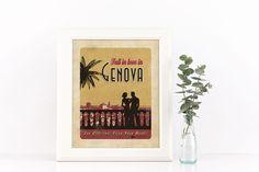 #genova #liguria #vintage #genoa #zena #liguria #vintage #targhevintage #vimages #stampevintage