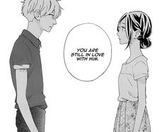 Hirunaka no Ryuusei - This moment broke my heart :( Manga Couple, Anime Couples Manga, Manga Love, Anime Love, Sad Anime, Manga Anime, Mamura Daiki, Photo Manga, Child Genius