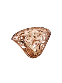 18k Rose Gold Plated Sterling Silver Sahara Ring