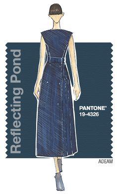 ADEAM in Pantone Reflecting Pond - FALL 2015 PANTONE's FashionColorReport