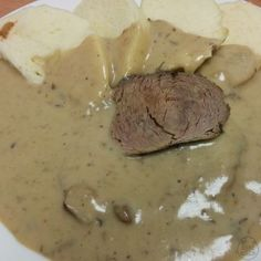 Czech Recipes, Stew, Pork, Food And Drink, Meat, Cooking, Sauces, Kochen, Pork Roulade
