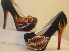 Harley Davidson heels - Whoa Mama!