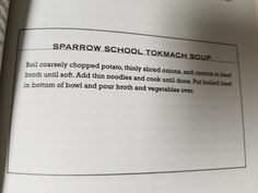 8. Sparrow School Tokmach Soup