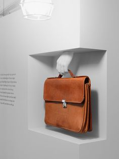 Amazing museum display of briefcase.