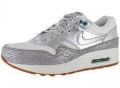 Chaussures Nike AIR MAX 1 PREMIUM ARGENTE