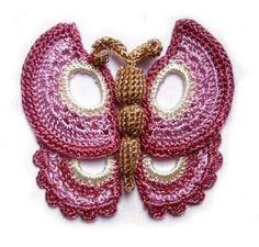 Fre e Crochet Patterns: Free Crochet Butterfly Patterns Crochet Motifs, Freeform Crochet, Crochet Stitches, Crochet Patterns, Love Crochet, Irish Crochet, Knit Crochet, Crochet Butterfly Pattern, Crochet Flowers