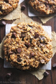 1. Chocolate Chip Almond Butter Oatmeal Cookies  #healthy #almondbutter #snacks http://greatist.com/eat/almond-butter-snack-recipes