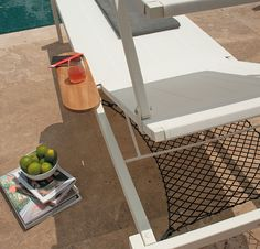 Stackable sunbed with accessories Emu, Furniture Sets, Outdoor Furniture, Wood Design, Relax, Lounge, Indoor, Armchairs, Coffee Tables