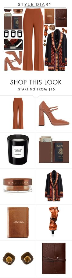 """Etro Cardigan x Fendi Trousers"" by monazor ❤ liked on Polyvore featuring Fendi, Rochas, Thierry Mugler, Royce Leather, Vita Liberata, Etro, Kate Spade, Aesop, Trianon and Cavallini"