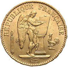 Gold French 20 Franc Angel