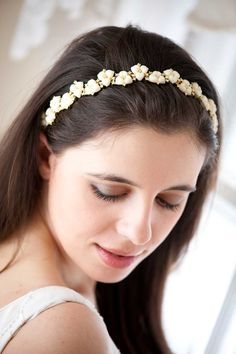Ivory Headband - Clay Bouquet Shop