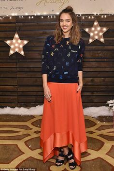 Jessica Alba in Kenzo attends the Baby2baby Holiday Party. #bestdressed