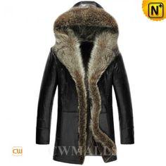Hooded Fur Shearling Coat CW855306 www.cwmalls.com