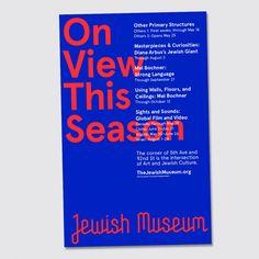 Jewish Museum identity by Sagmeister & Walsh