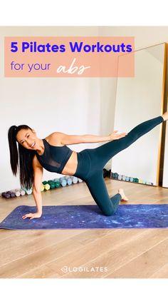 Pilates Poses, Pop Pilates, Pilates Workout, Abs And Obliques Workout, Oblique Workout, Fit Board Workouts, Fun Workouts, Best Workout Videos, Postnatal Workout