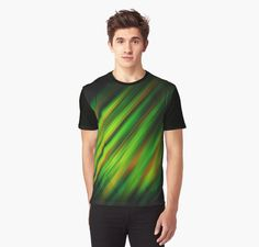 Colorful brush strokes. Multi colored brush strokes varying in many colors from green, yellow, orange and red on dark grey background. • Also buy this artwork on apparel, kids clothes, stickers, and more.