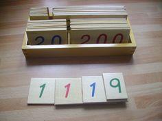 Matériel montessori pour les maths