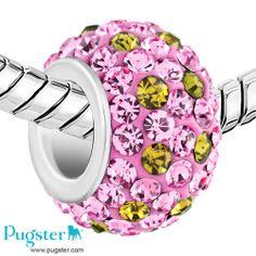 Pink Pugster Charm, love the colors. #charmbracelets #pandoracharms