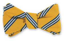 Gold All Silk Bow Tie Hand-made in USA Click for Bow Tie Styles R. Hanauer bow ties are made to order.  If you are unsure about a color or design, just ask. We