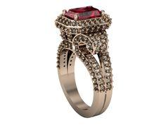 14k Rose Gold Garnet Wedding Ring, Vintage Style Ladies Ring by Clean Casting Jewelry #weddings #rings, Garnet engagement ring