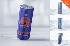 Energy Drink Can Mockup by coloformia on @creativemarket