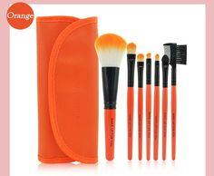 Professional 7 PCS Makeup Brushes Set Tools Make-up Toiletry Kit Wool Brand Make Up Brush Set