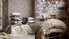 chunky knits and throw pillows #neutral